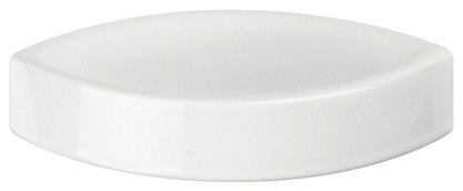 Glam 1622 Soap Dish in White Ceramic contemporary-soap-dishes-and-holders