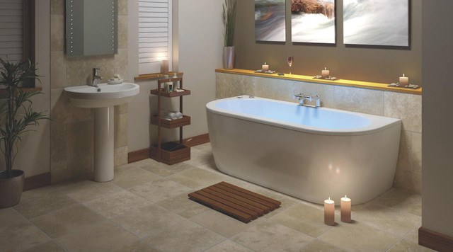 Luxury 6 jet led whirlpool wellness system for Bathrooms b q suites