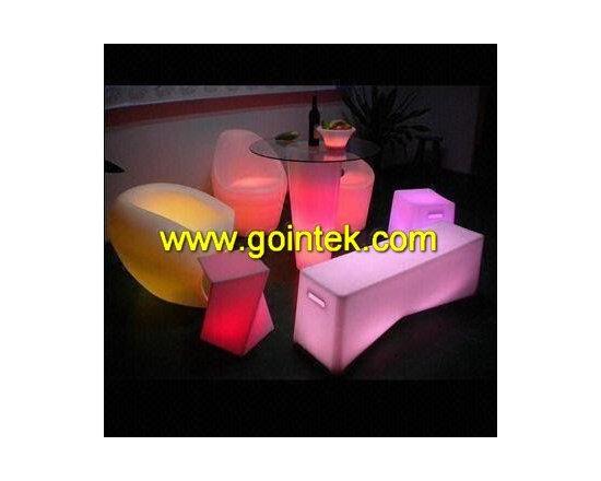 illuminated led bar stool -