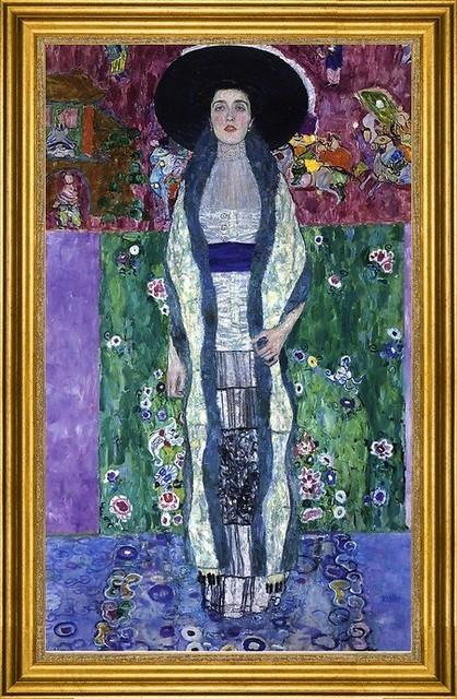 "Gustav Klimt-16""x24"" Framed Canvas traditional-artwork"