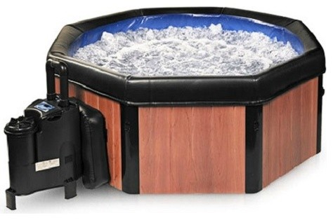 Comfort Line Products Spa-N-A-Box Faux Wood Electric Portable Spa Hot Tub modern-hot-tubs