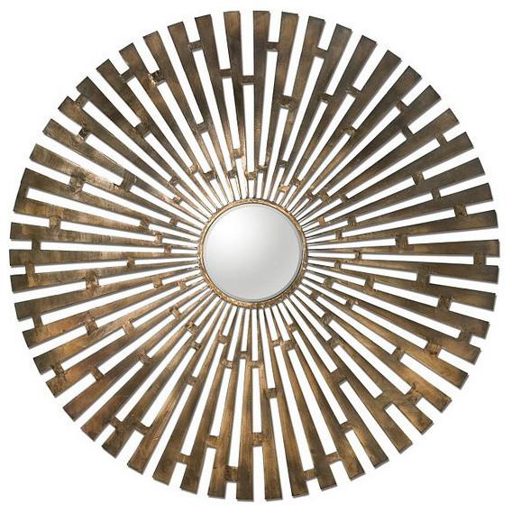 Uttermost Tremeca Brass Starburst Mirror - 12846 transitional-home-decor