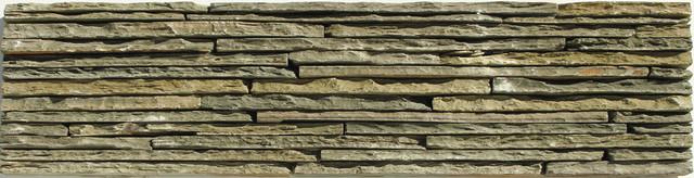 Random Bricks Green Portico Slate Series Tumbled Slate contemporary-tile