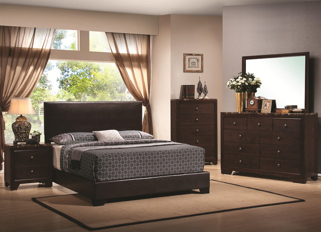 Conrad Marble 5 Piece Bedroom Set Contemporary Bedroom Furniture Sets B