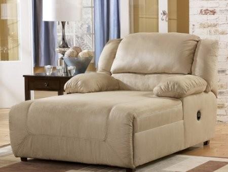 Hogan khaki 2 arm press back chaise modern by amazon for Ashley furniture reclining chaise lounge