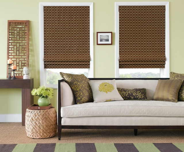 Flat Roman Shades  roman blinds
