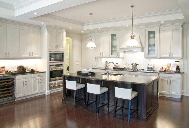 Ascot Glazed Oyster and Blackened Cocoa Cherry - Traditional - Kitchen Cabinetry - vancouver ...