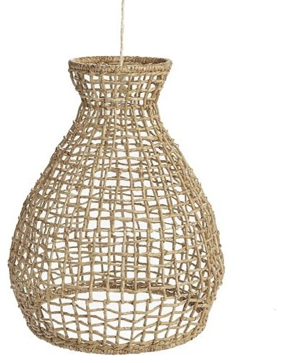 Woven Seagrass Pendant tropical-pendant-lighting