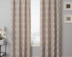 Blindsgalore Signature Drapery Panel: Azure Tile midcentury-curtains