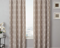 Blindsgalore Signature Drapery Panel: Azure Tile traditional curtains