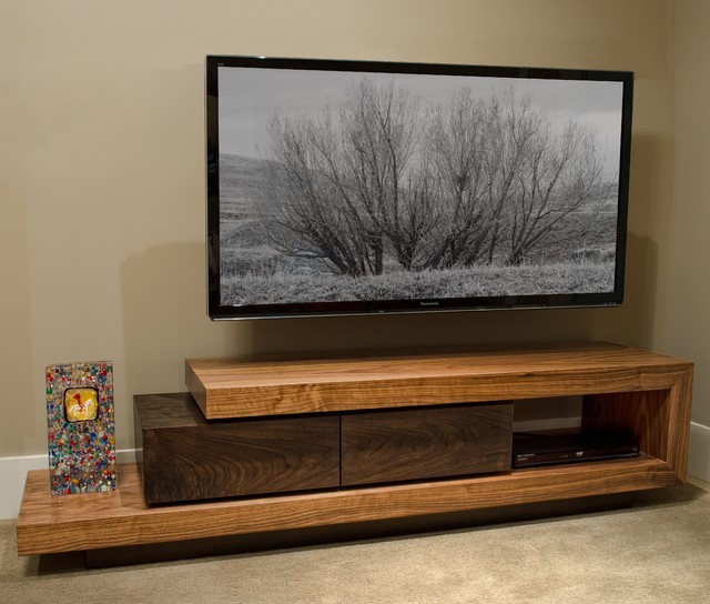 Walnut TV Stand - Contemporary - Buffets And Sideboards ...