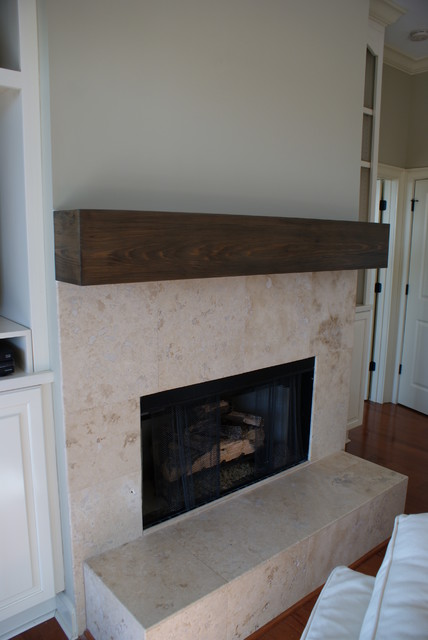 Cypress Mantle Traditional Indoor Fireplaces