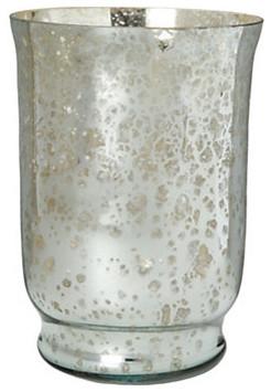 Mercury Glass Candle Wall Sconces : Mercury Glass Hurricane - Modern - Candleholders - by Terrain
