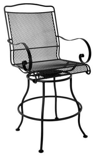O.W. Lee Avalon Swivel Counter Stool with Arms traditional-outdoor-benches