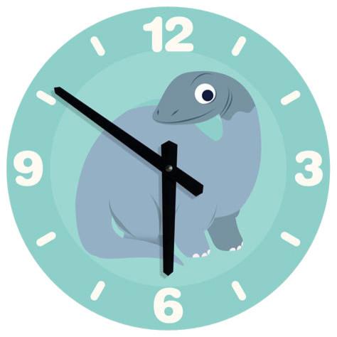 Large dinosaur clock for boys nursery room dinosaur for Kids room clock