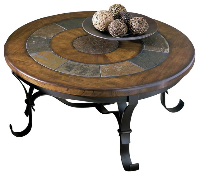 Riverside Stone Forge Round Coffee Table Transitional  : transitional coffee tables from www.houzz.com size 640 x 562 jpeg 75kB