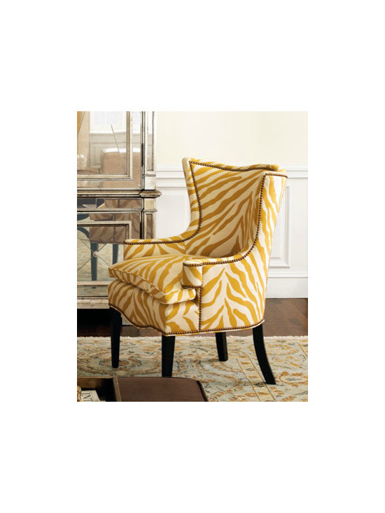 """Sunflower Zebra"" Chair - Who wouldn't want this chair? It's fabulous, trendy, yet so classic and comfortable!"