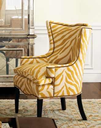 """""""Sunflower Zebra"""" Chair contemporary-living-room-chairs"""
