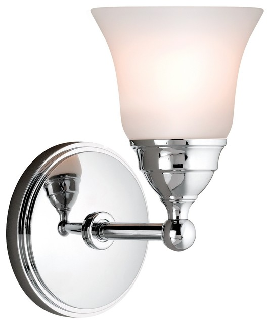 """Country - Cottage Sophie 8 1/4"""" High Chrome Wall Sconce traditional-wall-sconces"""