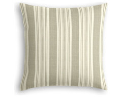 Gray & Ivory Handwoven Stripe Custom Pillow rustic-decorative-pillows