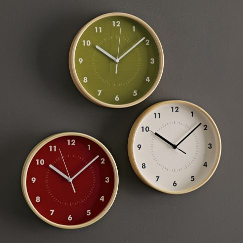 Simple Wood Wall Clock contemporary clocks