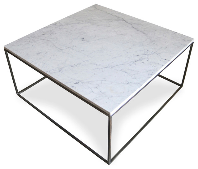 Mid Century Marble Steel Coffee Table Modern Coffee Tables Other Metro By Mix Vintage