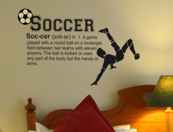 Soccer Definition Wall Decal Modern Wall Decals By