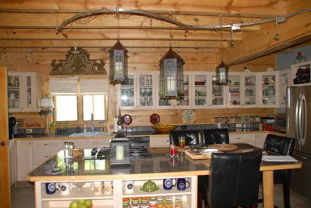 Beautiful Log Home Retreat On Lake Greenwood SC Traditional Kitchen