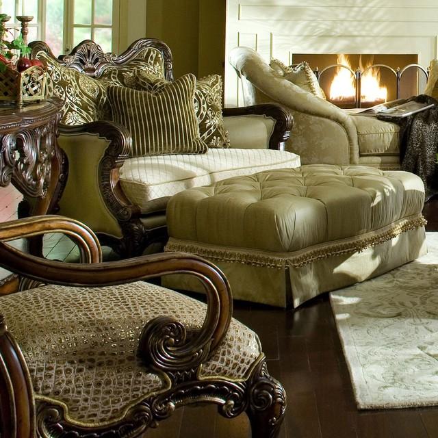 Aico Furniture Chateau Beauvais Chair And A Half 75838 Angld 39 75838 Brnb Transitional