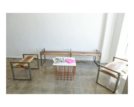 Custom Furniture for Enamel Diction Nail Salon Los Angeles - Custom design Waiting area benches