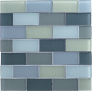 Lake Garda Glass Tile contemporary-bath-products