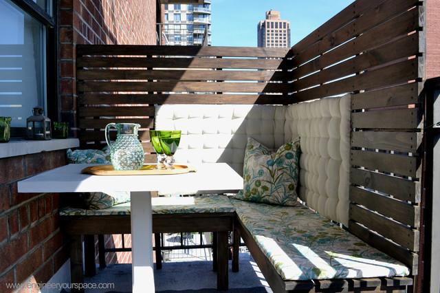 DIY Outdoor Balcony Dining Area Makeover contemporary