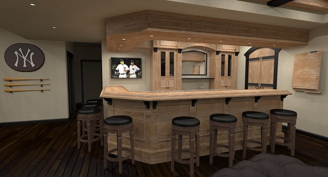 Basement Pub Sports Bar Traditional Rendering Ottawa