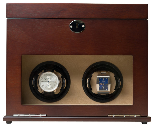 Hives & Honey Colton Dual Watch Winder Valet Box traditional-storage-boxes