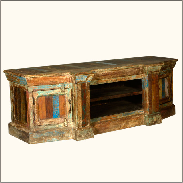 59 Long Rustic Reclaimed Wood Distressed Tv Media Stand