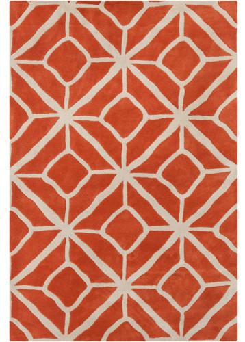 Cinzia Orange Geometric Rug Modern Rugs By Allmodern