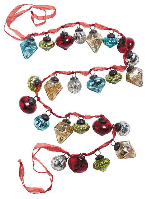 Antique Christmas Ornament Garland - Frontgate - Christmas Decorations traditional-holiday-decorations