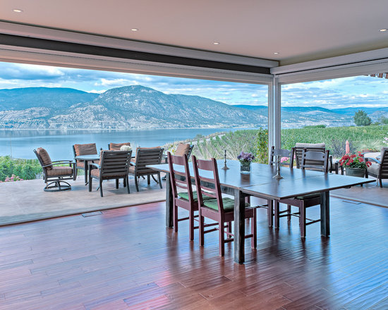 Dining Rooms | Brighten Your Meal - Private Residence in Naramata, BC | Innotech Windows Canada, Inc.