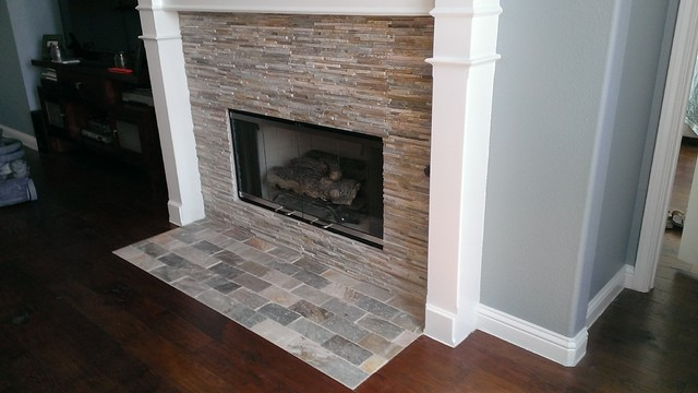 FIREPLACE Mini Ledger Stone Wall Brick Pattern