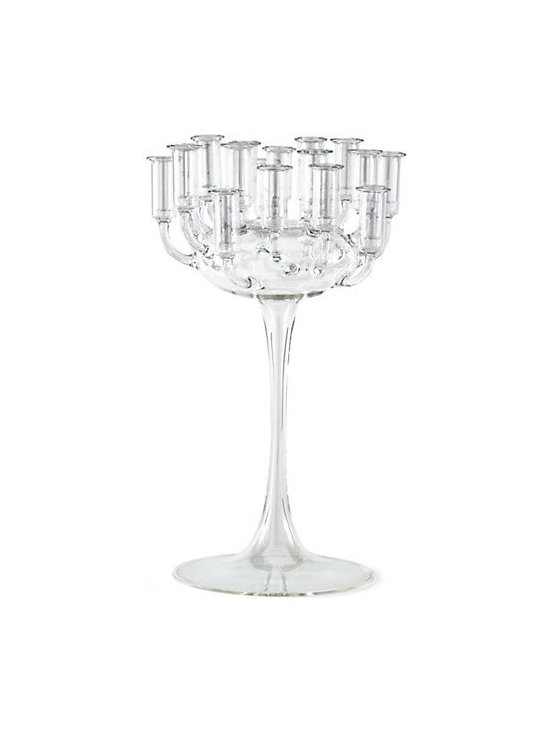 Antoine Candelabra, Sir - Elegant and dramatic, this pedestal-like candelabra holds either candles or small flower buds. It's a great choice for a dining table centerpiece.
