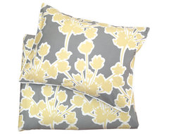 Spring Yellow Ashbury Sham, King contemporary shams