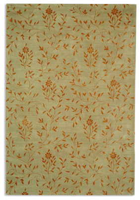 Soho Area Rug in Beige & Rust - 2' x 3' traditional-rugs