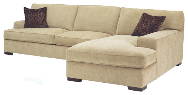 Clayton 2 pc sofa chaise sectional sectional sofas for Couch with 2 chaises