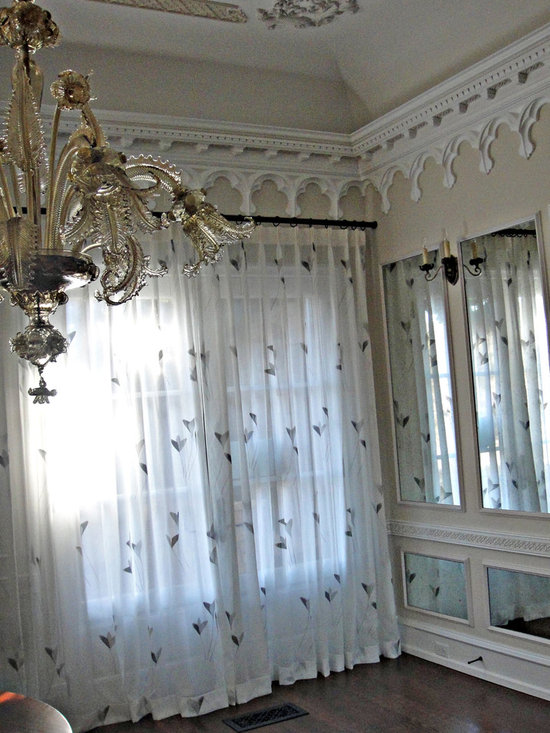 Drapery - Sheer draperies furnished and installed by Kite's Interiors