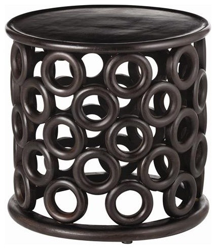 Arteriors Kamal Handcarved Wood Side Table traditional-side-tables-and-end-tables