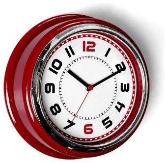 Diner Wall Clock T Bird Red Modern Clocks By Lark