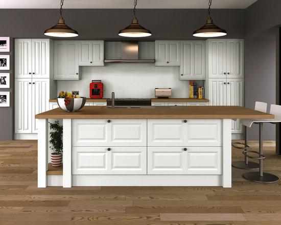 Satin White Ash Kitchens -