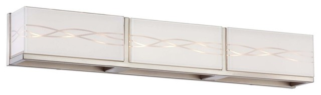 George Kovacs by Minka P5233-084 9-Light Bath Bar - Brushed Nickel - 29.5W in. modern-bathroom-lighting-and-vanity-lighting