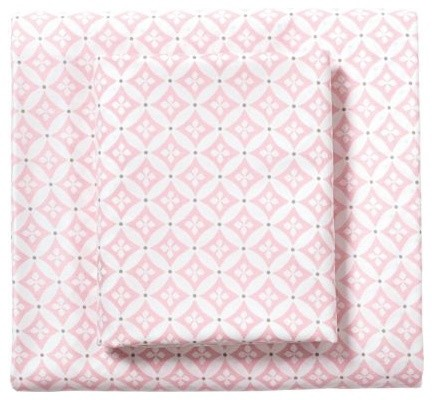 Pink Florentine Sheet Set traditional-sheets