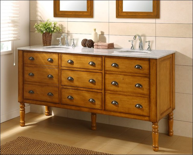 J & J International Double Sink Vanities - Traditional ...